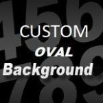 CUSTOM SIZE OVAL STICKER BACKGROUND (small) - upto 11 inches long